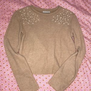 Zara NWOT sweater with pearl detail